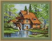 Luca-S Spring Landscape - Petit Point Tapestry Kit