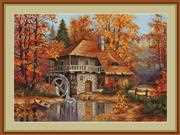 Luca-S Autumn Landscape - Petit Point Tapestry Kit