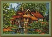Luca-S Old House in the Forest - Petit Point Tapestry Kit