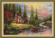 Mountain Cabin - Petit Point - Luca-S Tapestry Kit