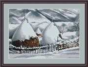 Snow Covered Stacks - Petit Point - Luca-S Tapestry Kit