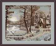 Luca-S Winter Landscape - Petit Point Tapestry Kit