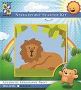 Lazy Lion - Grafitec Tapestry Kit