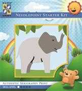 Trumpeting Elephant - Grafitec Tapestry Kit