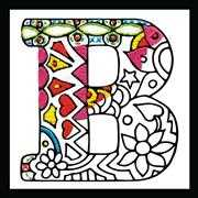 Zenbroidery - Letter B - Design Works Crafts Embroidery Fabric
