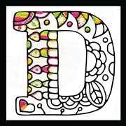 Design Works Crafts Zenbroidery - Letter D Embroidery Fabric