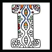 Zenbroidery - Letter I - Design Works Crafts Embroidery Fabric