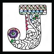 Zenbroidery - Letter J - Design Works Crafts Embroidery Fabric
