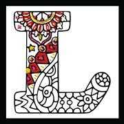 Zenbroidery - Letter L - Design Works Crafts Embroidery Fabric