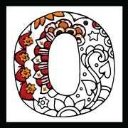 Design Works Crafts Zenbroidery - Letter O Embroidery Fabric
