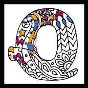 Design Works Crafts Zenbroidery - Letter Q Embroidery Fabric