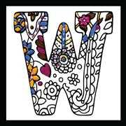 Design Works Crafts Zenbroidery - Letter W Embroidery Fabric