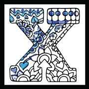 Zenbroidery - Letter X - Design Works Crafts Embroidery Fabric