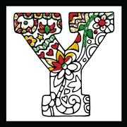Zenbroidery - Letter Y - Design Works Crafts Embroidery Fabric