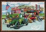 Design Works Crafts Route 66 Farmstead Cross Stitch Kit