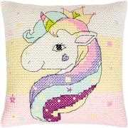 Luca-S Unicorn Chunky Pillow Cross Stitch Kit