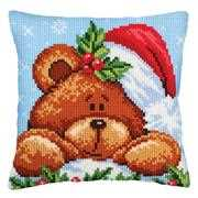 Collection D'Art Christmas Teddy Bear Cross Stitch Kit