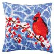 Collection D'Art Winter Red Berries Christmas Cross Stitch Kit