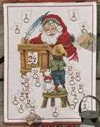 Permin Santa's Check List Advent Christmas Cross Stitch Kit