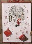 Permin Santa in the City Advent Christmas Cross Stitch Kit