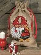 Singing Elves Bag - Permin Cross Stitch Kit
