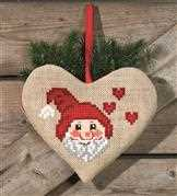 Santa Claus Heart Bag - Permin Cross Stitch Kit