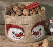 Snowmen Bag - Permin Cross Stitch Kit