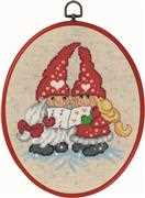 Singing Elves - Permin Cross Stitch Kit