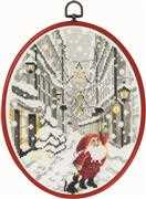Permin Santa in the City Christmas Cross Stitch Kit