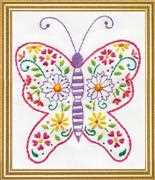 Design Works Crafts Butterfly Embroidery Kit
