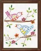 Bird Family - Design Works Crafts Embroidery Kit