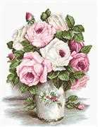 Mixed Roses on Aida - Luca-S Cross Stitch Kit