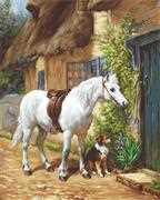 By the Cottage - Luca-S Cross Stitch Kit