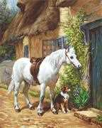 By the Cottage Petit Point - Luca-S Tapestry Kit