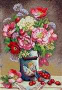 Cupid's Flowers - Merejka Cross Stitch Kit