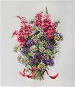 Merejka The Field Bouquet Cross Stitch Kit