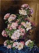 Merejka Lush Peonies Cross Stitch Kit