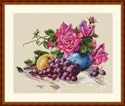 Merejka Still Life with Grape Cross Stitch Kit