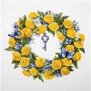 Merejka Dandelion Wreath Cross Stitch Kit