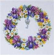 Wreath with Irises - Merejka Cross Stitch Kit