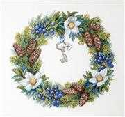 Merejka Winter Wreath Christmas Cross Stitch Kit