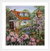 Merejka House in Roses Cross Stitch Kit