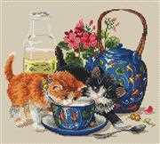 Merejka Kittens & Milk Cross Stitch Kit