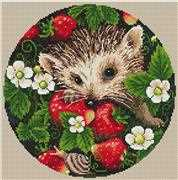 Merejka Strawberries Cross Stitch Kit