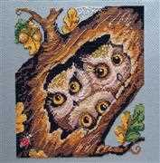 Merejka Owls Cross Stitch Kit