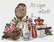 It's Coffee O'Clock - Merejka Cross Stitch Kit