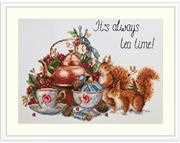 Merejka It's Always Tea Time Cross Stitch Kit