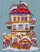 Merejka Winter House Cross Stitch Kit