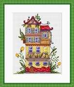 Merejka Spring House Cross Stitch Kit