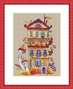 Merejka Autumn House Cross Stitch Kit